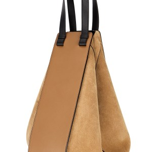 LOEWE Hammock Camel Leather and Suede Tote Back