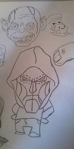 bocetos de personajes para videojuegos