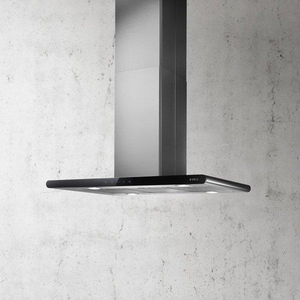 Campana Galaxy PRF0008948B Elica acero inoxidable + vidrio negro