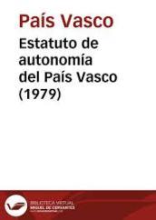 ESTATUTOS DE AUTONOMIA.- ESPAÑA 1979