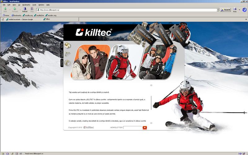 Captura de ecran killtecsport.ro