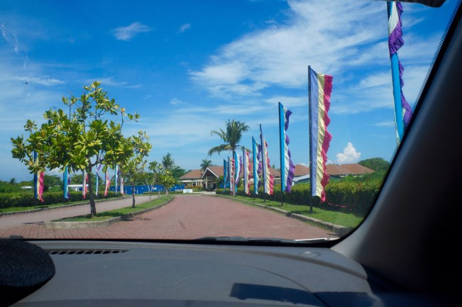 Entering Aquaria Water Park.