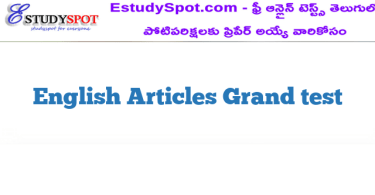 English Articles Grand test