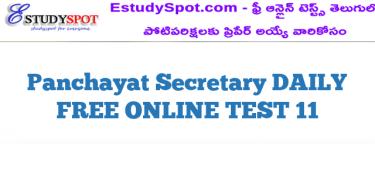 Panchayat Secretary DAILY FREE ONLINE TEST 11