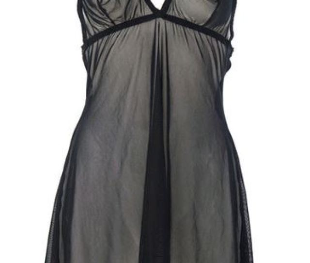 Hollywood Sheer Black Nightgown