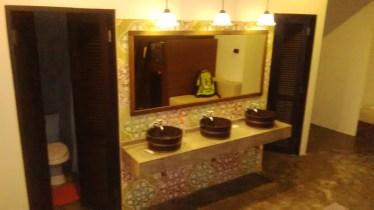 bathroom inside the dorm