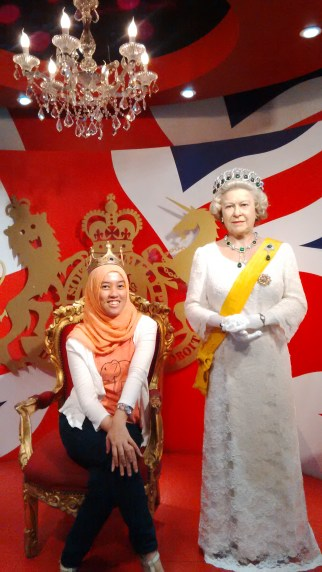 with the Queen
