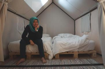 camping inside the room