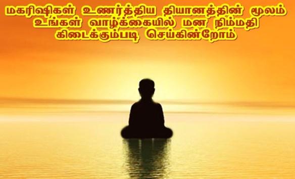 Peaceful heartful meditation