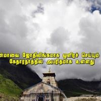 கேதார்நாத் ஆலயத்தில் தியானம்