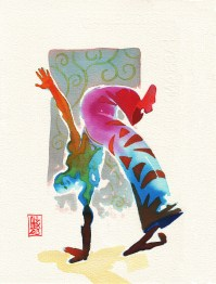 Encres : Capoeira – 333 [ #capoeira #watercolor #illustration]