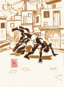 Encres : Capoeira – 337 [ #capoeira #watercolor #illustration]