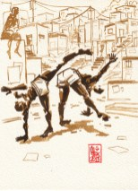 Encres : Capoeira – 341 [ #capoeira #watercolor #illustration]