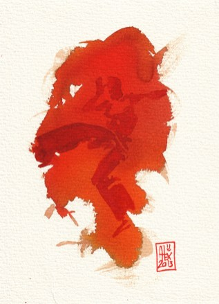 Encres : Capoeira – 347 [ #capoeira #watercolor #illustration]