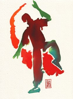 Encres : Capoeira – 354 [ #capoeira #watercolor #illustration]