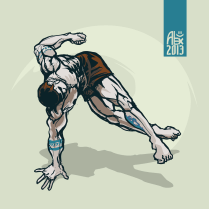 Illustration : Capoeira – 370 [ #capoeira #vectoriel #illustration]