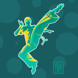 Illustration : Capoeira – 373 [ #capoeira #vectoriel #illustration]