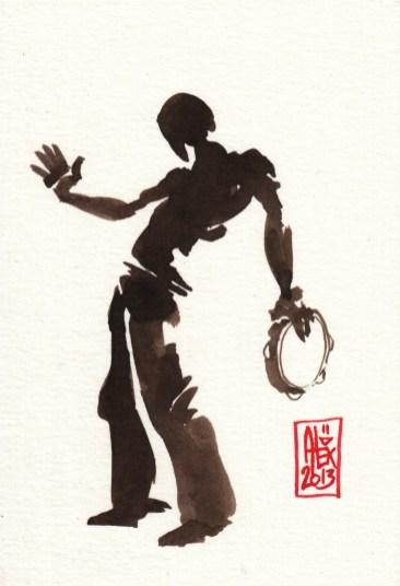 Encres : Capoeira – 374 [ #capoeira #watercolor #illustration]
