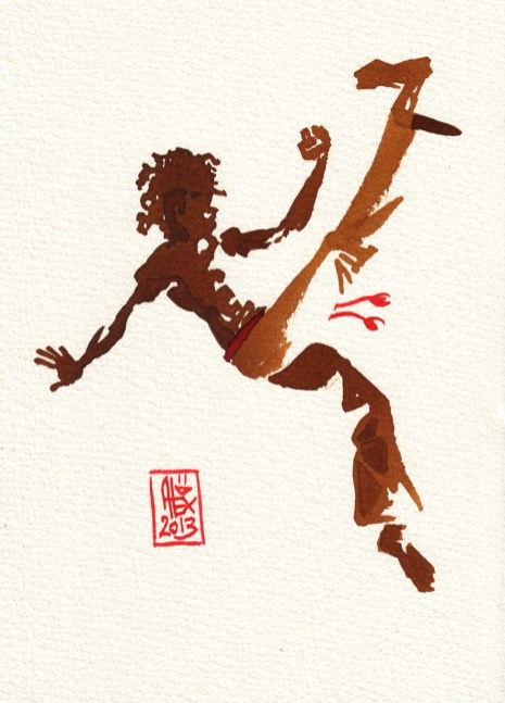 Encres : Capoeira – 379 [ #capoeira #watercolor #illustration]