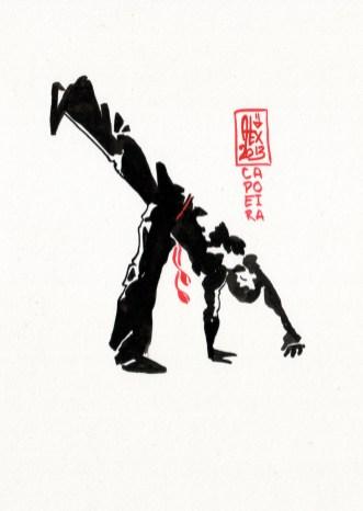 Encres : Capoeira – 388 [ #capoeira #watercolor #illustration]