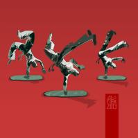 Plastic capoeira dudes