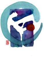 Encres : Capoeira – 426 [ #capoeira #watercolor #illustration] Encre sur papier 300gr / Ink on paper 300gr 17 x 24 cm