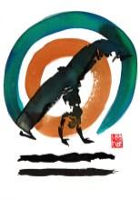 Encres : Capoeira – 428 [ #capoeira #watercolor #illustration] Encre sur papier 300gr / Ink on paper 300gr 17 x 24 cm