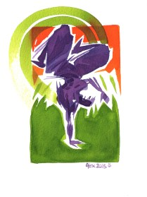 Encres : Capoeira – 436 [ #capoeira #watercolor #illustration] Encre sur papier 300gr / Ink on paper 300gr 14 x 19 cm