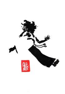 Encres : Capoeira – 450 [ #capoeira #watercolor #illustration] Encre sur papier 300gr / Ink on paper 300gr 17 x 24 cm / 6.7″ x 9.4″