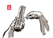 "Encres : Capoeira – 486 ""Reco reco"" [ #capoeira #watercolor #illustration] Encre sur papier 190gr / Ink on paper 190gr 21 x 29.7 cm / 8.3 x 11.7 in"