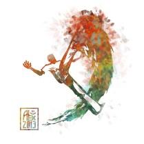 Encres : Capoeira – 528 [ #capoeira #digital #illustration] Illustration digitale / Digital painting