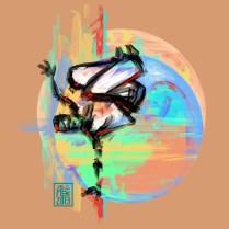 Encres : Capoeira – 543 [ #capoeira #digital #illustration] Illustration digitale réalisée avec GIMP/ Digital painting made with GIMP