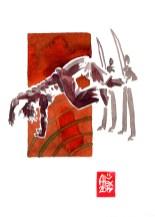 Encres : Capoeira – 557 [ #capoeira #watercolor #illustration] aquarelle sur papier 300gr / watercolor on paper 300gr 18 x 25 cm / 7.1 x 9.8 in