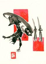 Encres : Capoeira – 552 [ #capoeira #watercolor #illustration] aquarelle sur papier 300gr / watercolor on paper 300gr 18 x 25 cm / 7.1 x 9.8 in