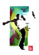 Encres : Capoeira – 577 [ #capoeira #watercolor #illustration] aquarelle sur papier 300gr / watercolor on paper 300gr 18 x 25 cm / 7.1 x 9.8 in