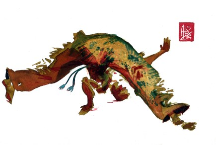 Encres : Capoeira – 590 [ #capoeira #watercolor #illustration] aquarelle sur papier 300gr / watercolor on paper 300gr 30 x 20 cm / 12 x 7.9 in