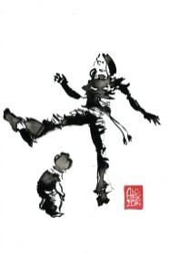 Encres : Capoeira – 601 [ #capoeira #watercolor #illustration] aquarelle sur papier 300gr / watercolor on paper 300gr 30 x 20 cm / 12 x 7.9 in