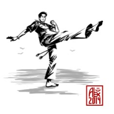 Encres : Capoeira – 605 [ #capoeira #mypaint #illustration] Image digitale / Digital image 2000 x 2000 px