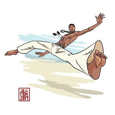 Encres : Capoeira – 606 [ #capoeira #mypaint #illustration] Image digitale / Digital image 2000 x 2000 px