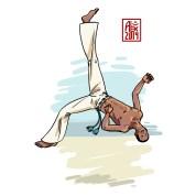 Encres : Capoeira – 607 [ #capoeira #mypaint #illustration] Image digitale / Digital image 2000 x 2000 px