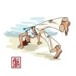 Encres : Capoeira – 609 [ #capoeira #mypaint #illustration] Image digitale / Digital image 2000 x 2000 px