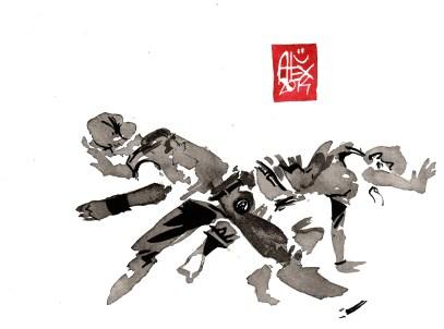 Encres : Capoeira – 638 [ #capoeira #watercolor #illustration] aquarelle sur papier 300gr / watercolor on paper 300gr 15 x 20 cm / 5.9 x 7.9 in