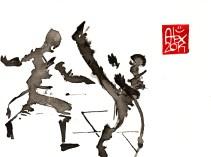 Illustration : Capoeira – 671 [ #capoeira #watercolor #illustration] aquarelle sur papier 300gr / watercolor on paper 300gr 14 x 19 cm / 5.5 x 7.5 in