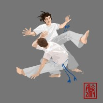 Illustration : Capoeira – 679 [ #capoeira #krita #illustration] Illustration digitale / Digital illustration 2000 x 2000 px