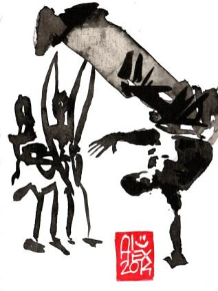 Illustration : Capoeira – 684 [ #capoeira #watercolor #illustration] aquarelle sur papier 180gr / watercolor on paper 180gr 12 x 16 cm / 4.7 x 6.3 in