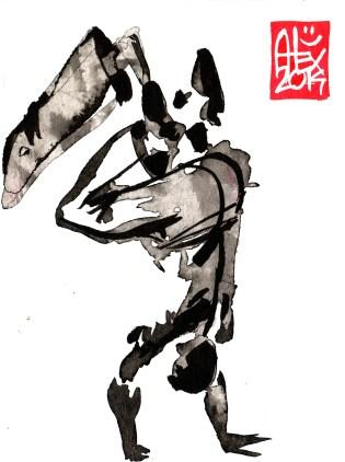 Illustration : Capoeira – 685 [ #capoeira #watercolor #illustration] aquarelle sur papier 180gr / watercolor on paper 180gr 12 x 16 cm / 4.7 x 6.3 in