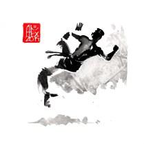 Illustration : Capoeira – 699 [ #capoeira #watercolor #illustration] aquarelle sur papier 325gr / watercolor on paper 325gr 16 x 16 cm / 6.30 x 6.30 in
