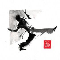 Illustration : Capoeira – 700 [ #capoeira #watercolor #illustration] aquarelle sur papier 325gr / watercolor on paper 325gr 16 x 16 cm / 6.30 x 6.30 in