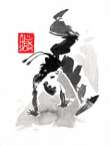 Illustration : Capoeira – 709 [ #capoeira #watercolor #illustration] aquarelle sur papier 325gr / watercolor on paper 325gr 12 x 16 cm / 4.7 x 6.30 in