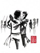 Illustration : Capoeira – 710 [ #capoeira #watercolor #illustration] aquarelle sur papier 325gr / watercolor on paper 325gr 12 x 16 cm / 4.7 x 6.30 in